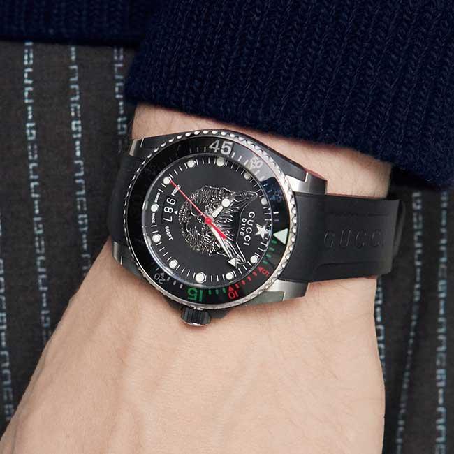 Đồng hồ Gucci Dive, 40mm, màu đen