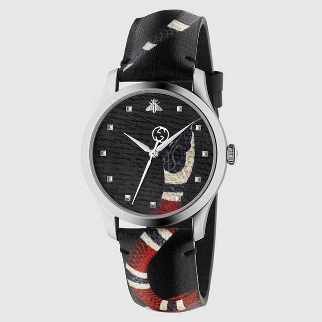 Đồng hồ Gucci con rắn màu đen