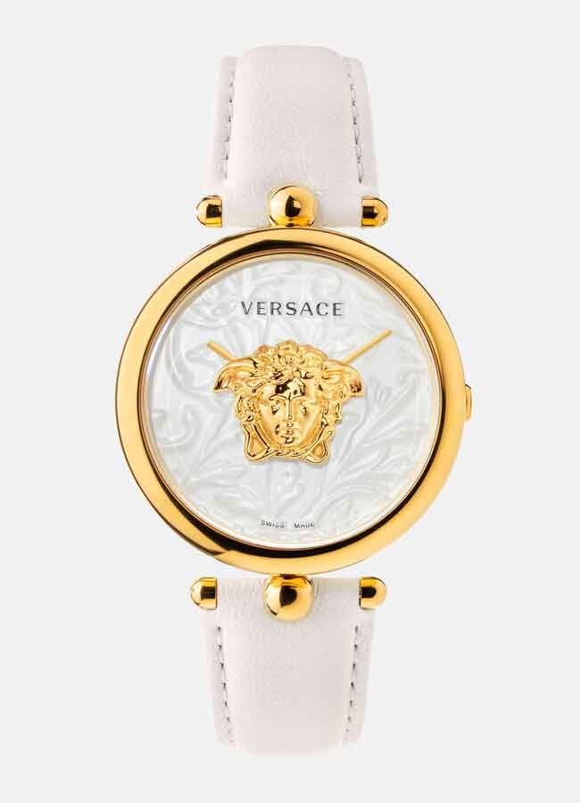 Versace Palazzo Empire Barocco Watch nữ dây da trắng
