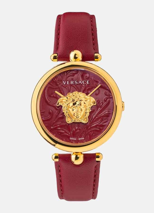 Versace Palazzo Empire Barocco Watch nữ dây da màu đỏ