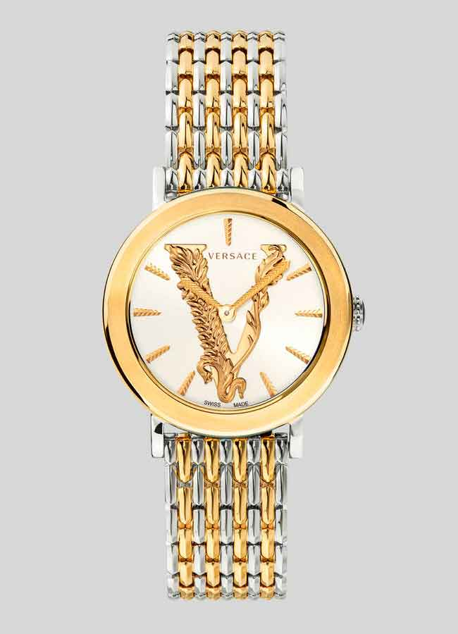 Đồng hồ Versace Virtus Watch dầy kim loại mặt tròn