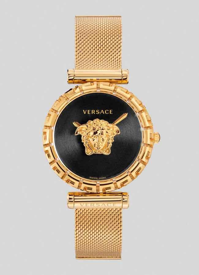 Đồng hồ Versace Palazzo Empire Greca Watch dây kim loại vàng