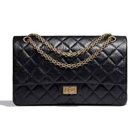 Túi Chanel 2.55 size 28 da bê đen