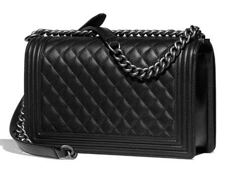 Túi xách Chanel Boy Size lớn da bê màu đen