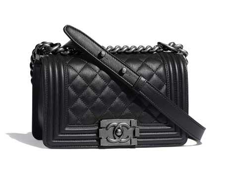 Túi xách Chanel Boy Size nhỏ da bê màu đen