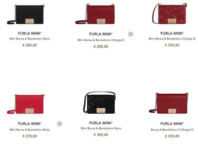 Túi Furla Mimì có giá từ 270-355 euro
