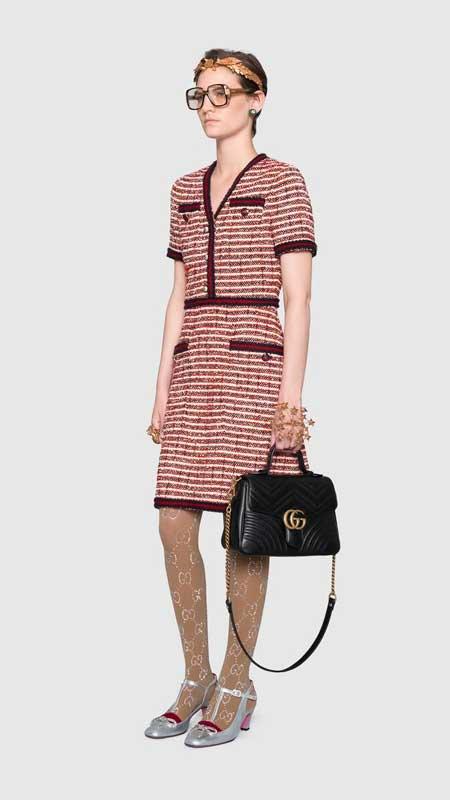 Tui Gucci Marmont top handle chinh hang màu đen