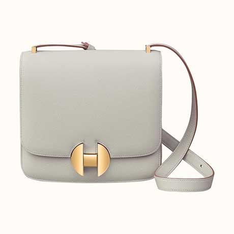 Túi đeo vai Hermes 2002 da màu trắng