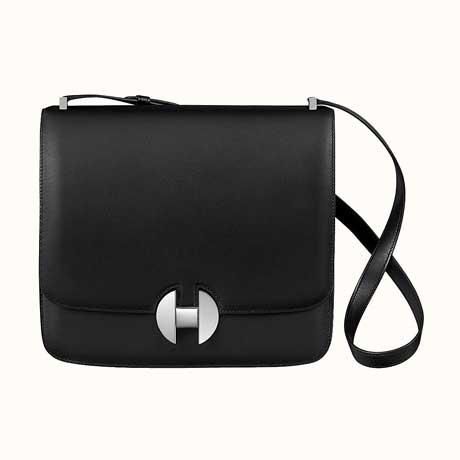 Túi đeo vai Hermes 2002 da màu đen