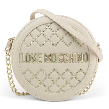 tui Love Moschino tron da màu trang
