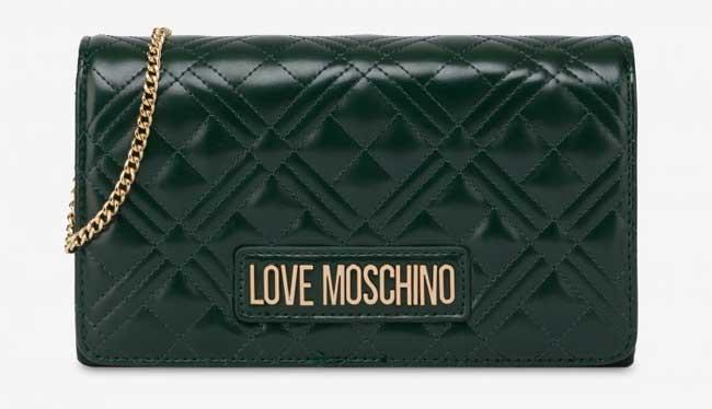 Ví cầm tay Love Moschino có dây đeo