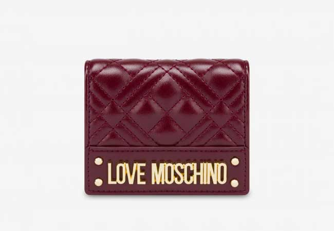 Vi cam tay Love Moschino size mini da chần bông