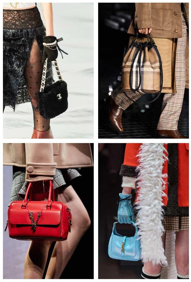 Tay cầm mini là hot trend túi xách năm 2021-2022