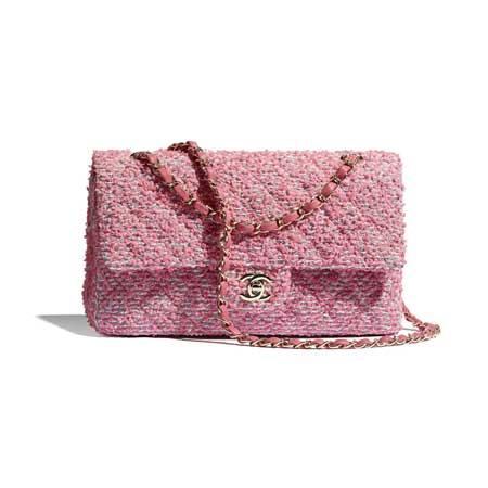 Túi Chanel cổ điển chất liệu Tweed & khóa kim loại mạ vàng mẫu mới nhất 2021-2022