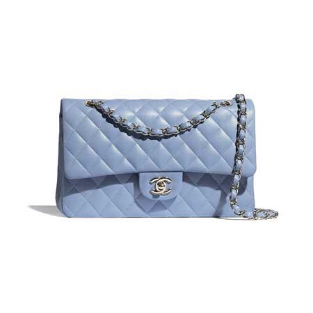 Chanel Classic Flap Bag màu xanh hot nhất 2021-2022