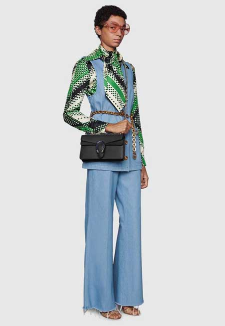 Túi Gucci Dionysus small shoulder bag da đen mẫu mới nhất 2021-2022