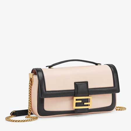 Túi đeo chéo Fendi Baguette Chain Pink and black nappa leather bag