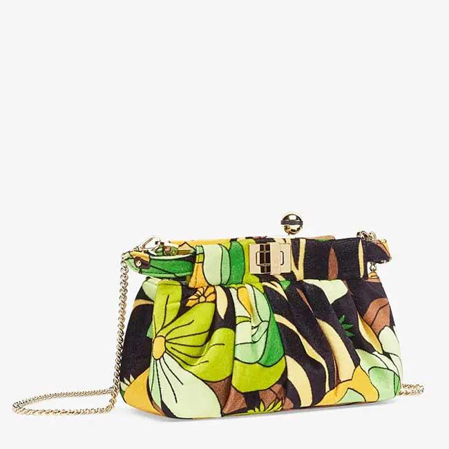 Túi Fendi Peekaboo Click Small bag in multicolor chenille