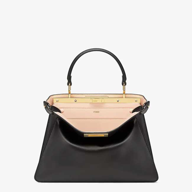 Túi Fendi Peekaboo I See U bag in medium size da màu đen
