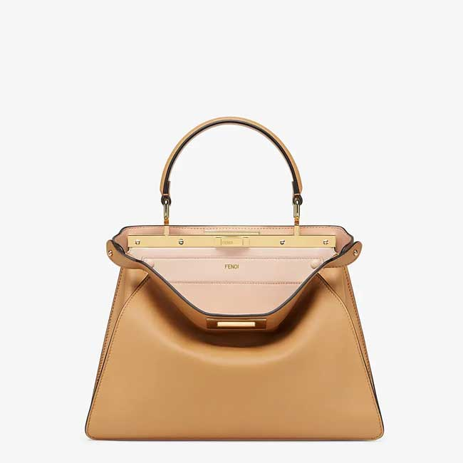 Túi Fendi Peekaboo I See U Beige leather bag