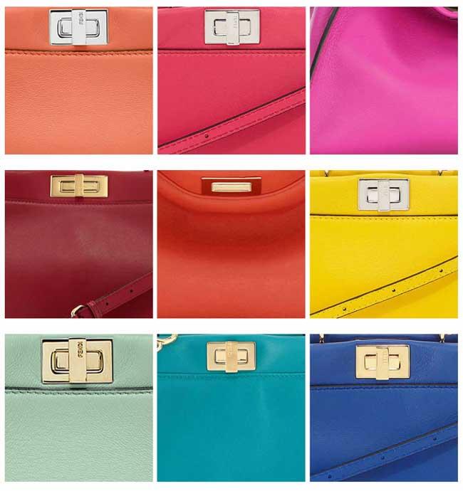 Các màu sắc Túi Fendi Peekaboo phổ biến