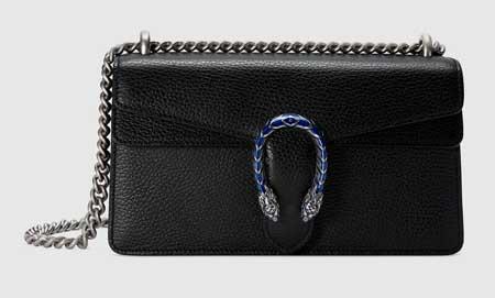 Túi Gucci đầu rồng size nhỏ da đen