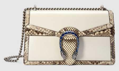 Túi Gucci đầu rồng size nhỏ viền da trăn